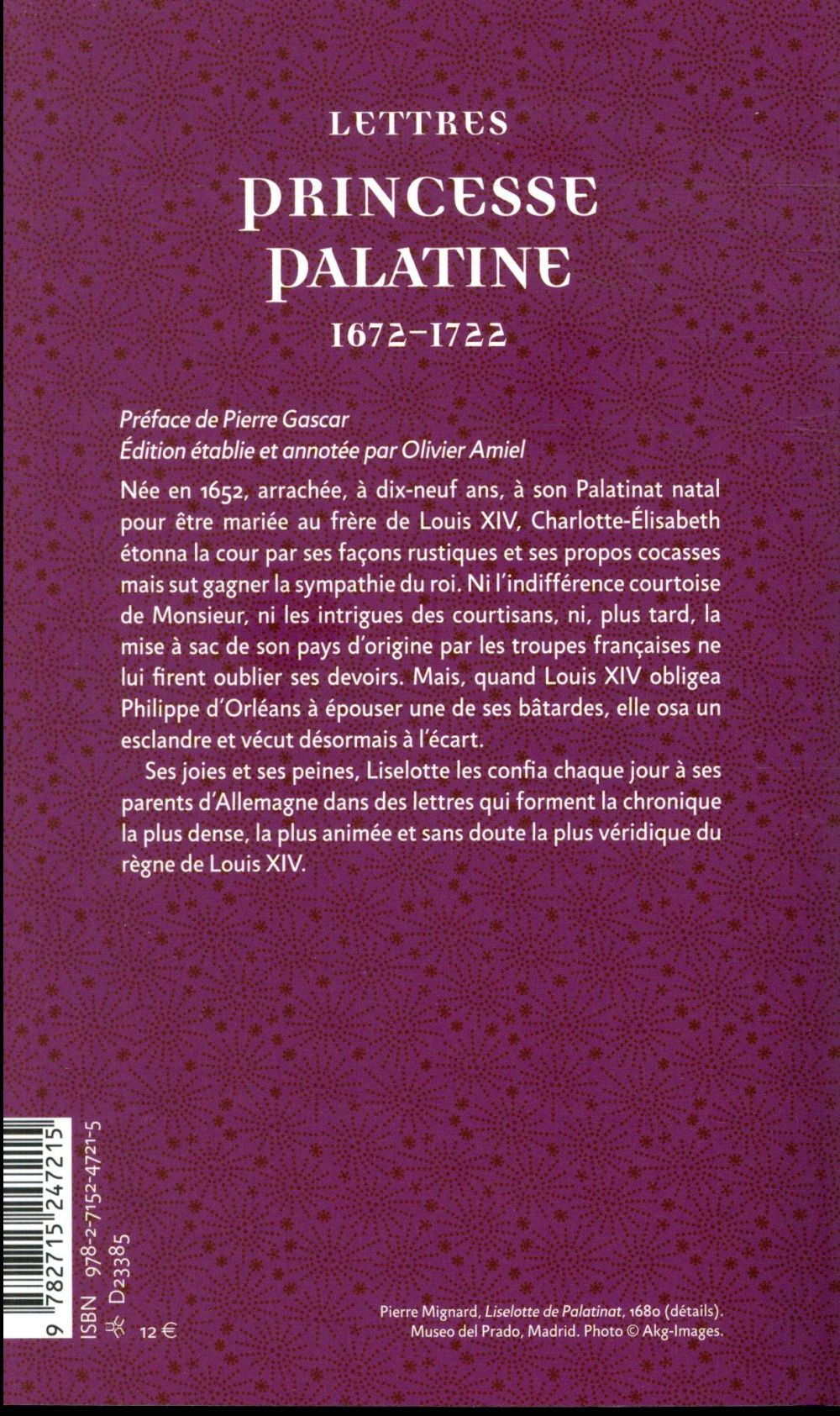 Lettres 1672-1722