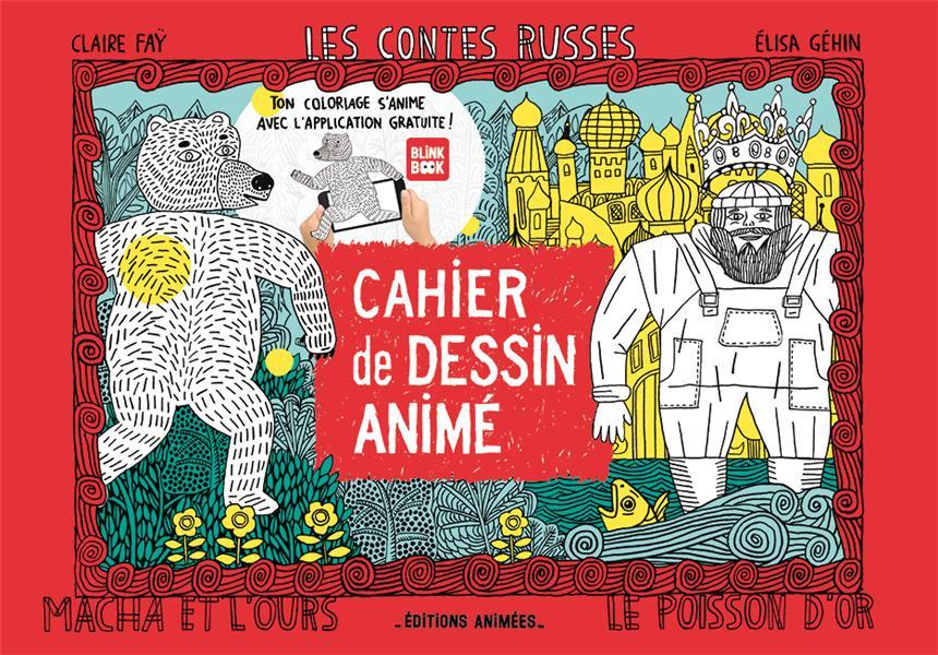 Cahier de dessin animé ; les contes russes