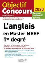 Vente EBooks : L'anglais en Master MEEF 1er degré 2020  - Claire Benimeli