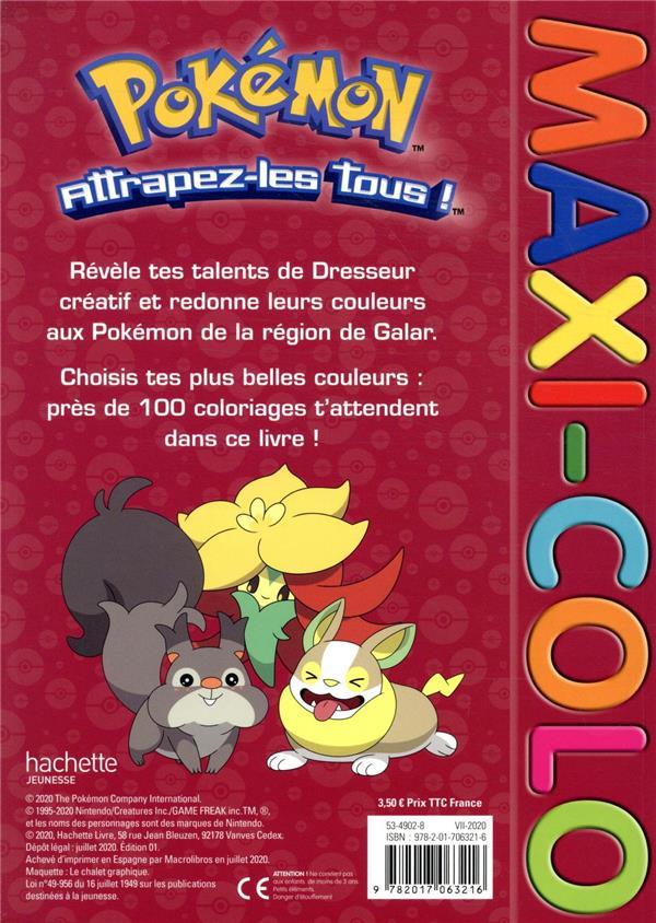 Maxi Colo Pokemon Collectif Hachette Jeunesse Papeterie Coloriage La Librerit Carouge
