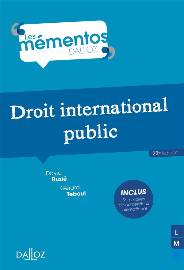 Droit International Public (23e Edition)