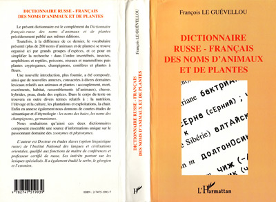 dictionnaire russe-francais des noms d'animaux et de plantes