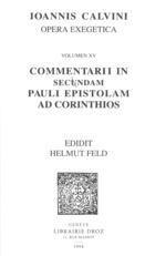 Vente EBooks : Commentarii in secundam Pauli epistolam ad Corinthios. Series II. Opera exegetica  - Jean Calvin