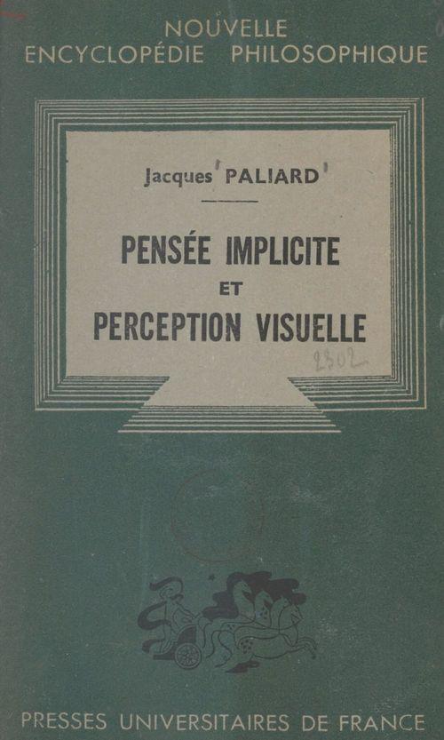 Pensée implicite et perception visuelle