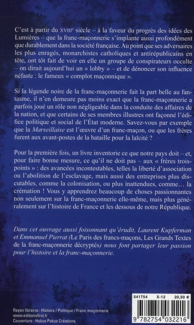 ce que la France doit aux Francs-Maçons