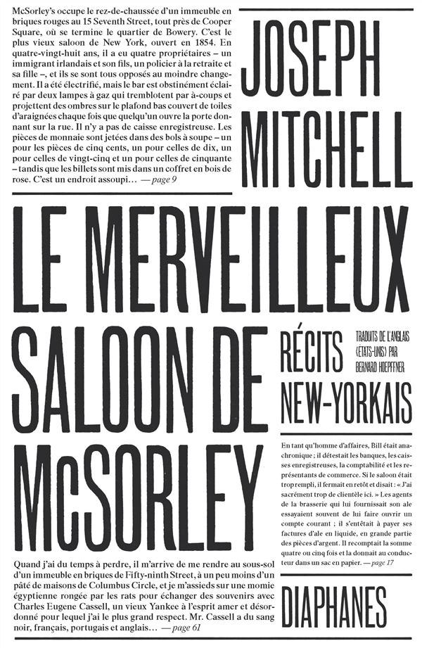 Le merveilleux saloon de McSorley ; récits new-yorkais