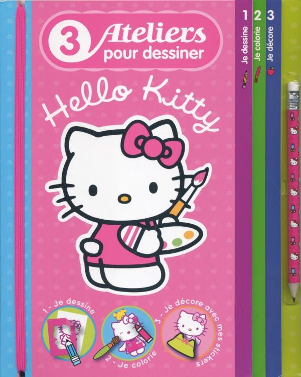 Hello Kitty ; 3 Ateliers Pour Dessiner