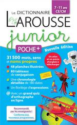 Couverture de Le dictionnaire larousse junior poche +