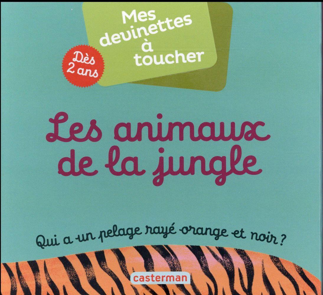 mes devinettes à toucher t.3 ; les animaux de la jungle