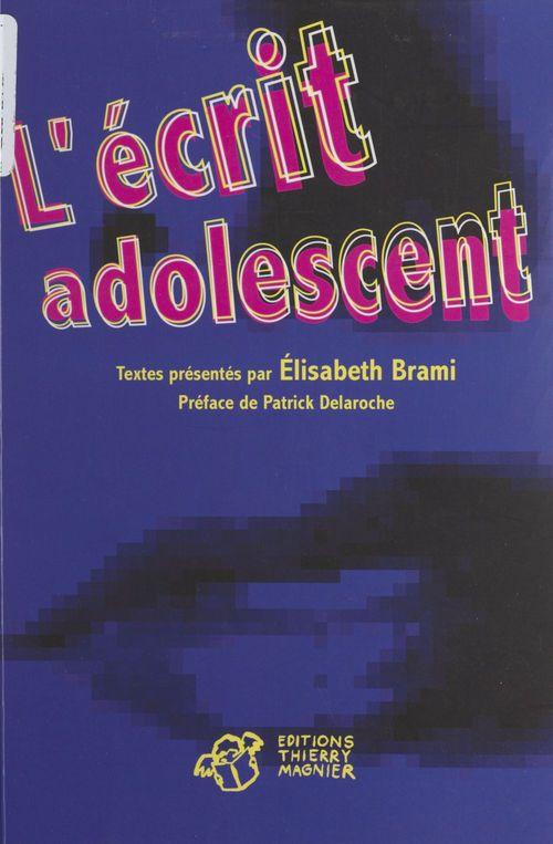 L'ecrit adolescent