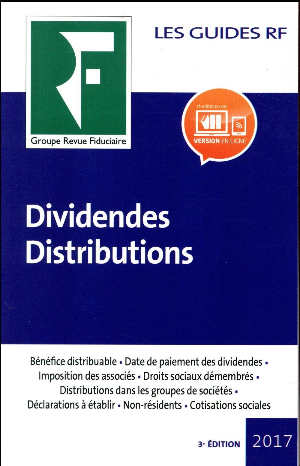 Les guides RF ; dividendes distributions (3e édition)
