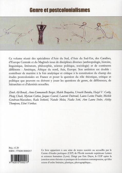 Genre et postcolonialismes ; dialogues transcontinentaux