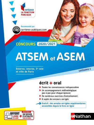 CONCOURS ATSEM ET ASEM  -  ECRIT + ORAL  -  CATEGORIE C (EDITION 20202021)