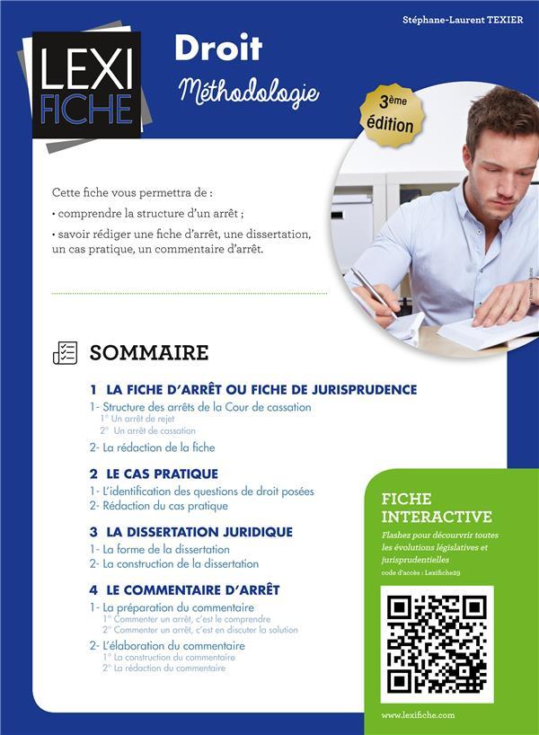 Droit ; Methodologie (3e Edition)