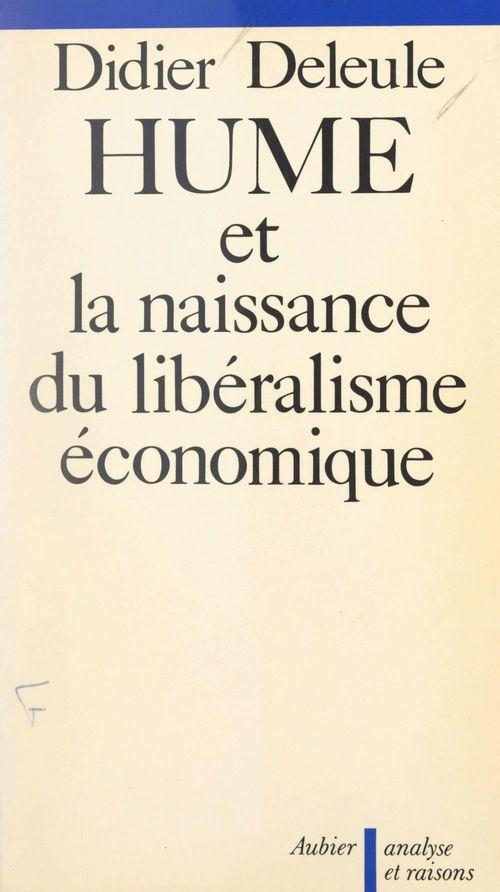 Hume et la naissance du libéralisme économique