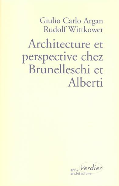 Architecture et perpective chez brunelleschi et alberti