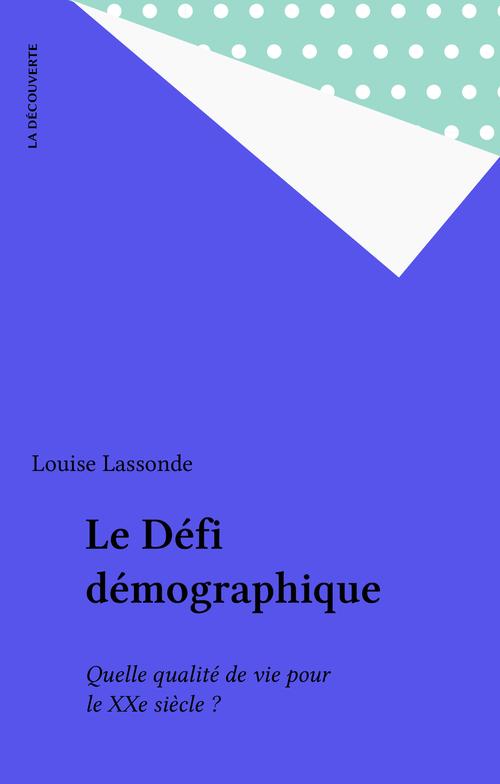 Le Défi démographique