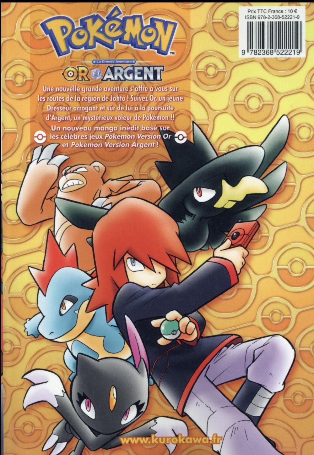 Pokémon ; la grande aventure - Or et argent T.1