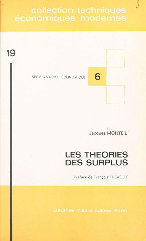 Les théories des surplus