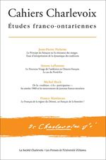 Vente EBooks : Cahiers Charlevoix 8
