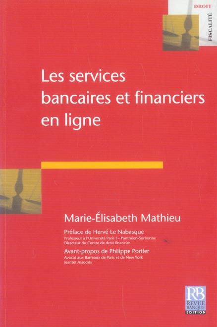 Les services bancaires et financiers en ligne