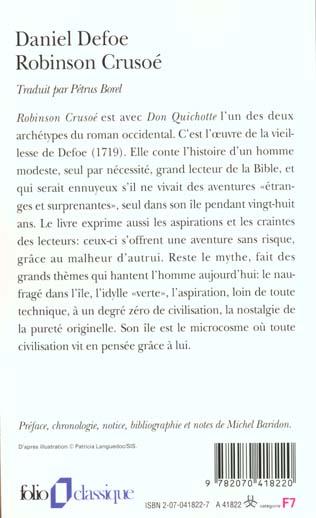Robinson Crusoé ; 1ère partie