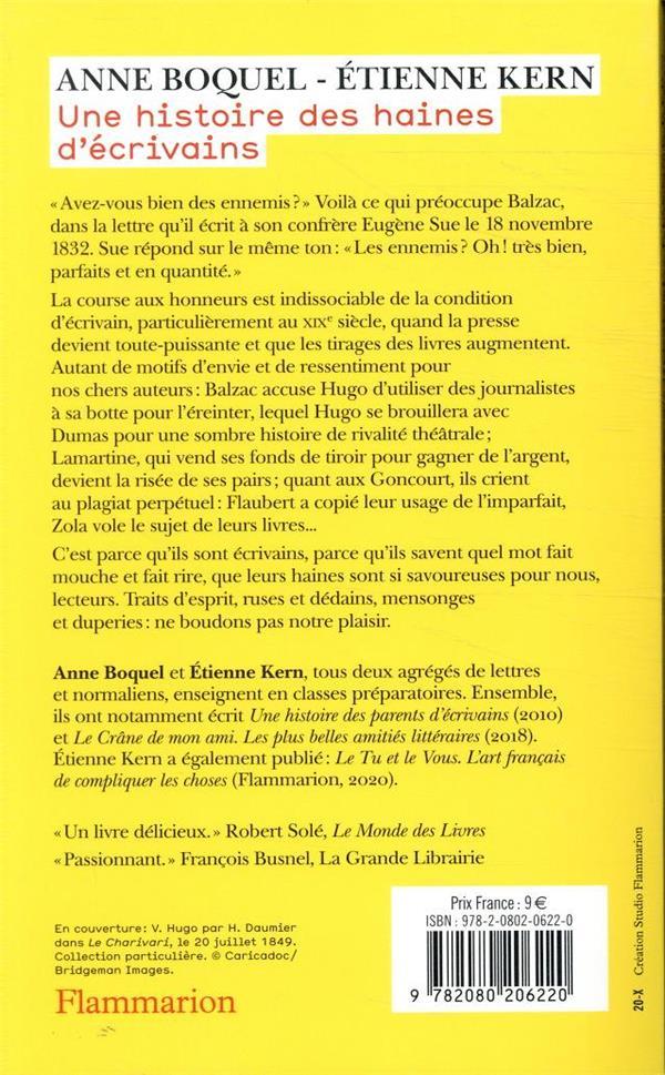 une histoire des haines d'écrivains ; de Chateaubriand à Proust
