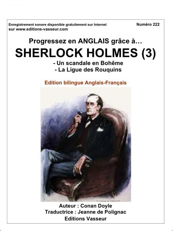 progressez en anglais grâce à... ; Sherlock Holmes t.3 ; un scandale en Bohême ; la ligue des rouquins