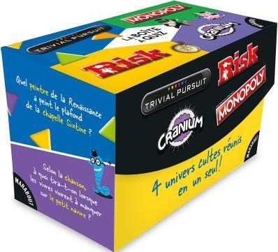 La boîte à quiz ; Trivial Pursuit, Risk, Cranium, Monopoly