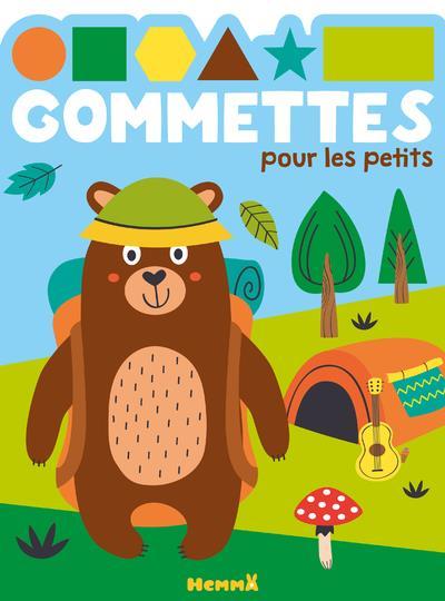 GOMMETTES POUR LES PETITS  -  OURS CAMPING