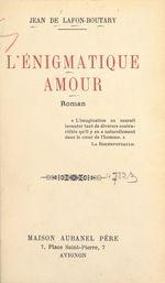 L'énigmatique amour