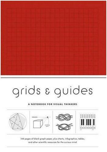 GRIDS et GUIDES (RED) A NOTEBOOK FOR VISUAL THINKERS ANGLAIS