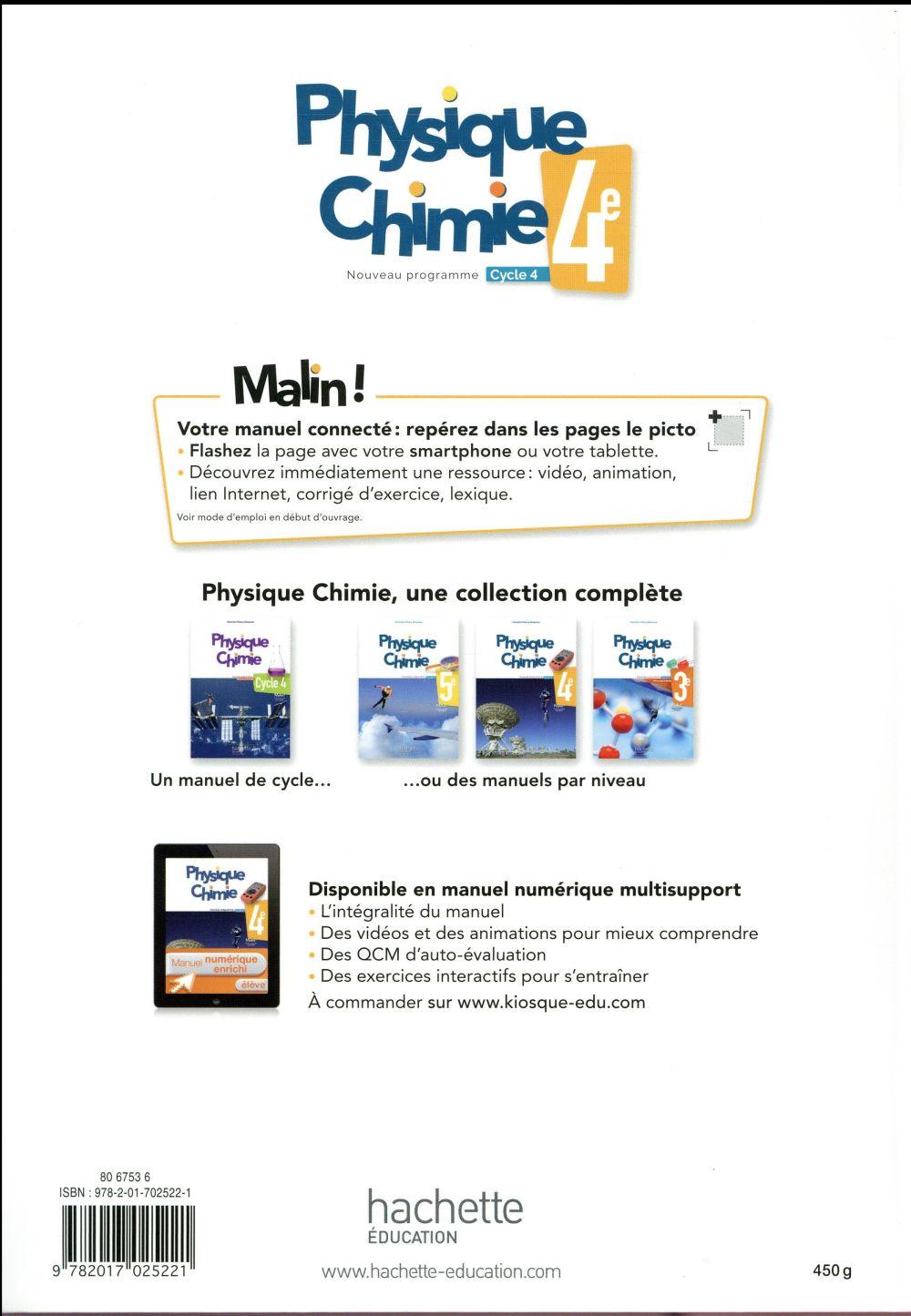 Physique-chimie ; cycle 4 / 4e ; livre de l'élève