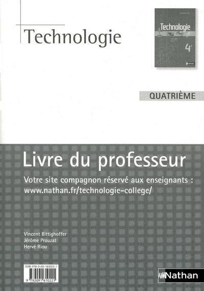 Technologie ; 4eme ; Livre Du Professeur (Edition 2009)