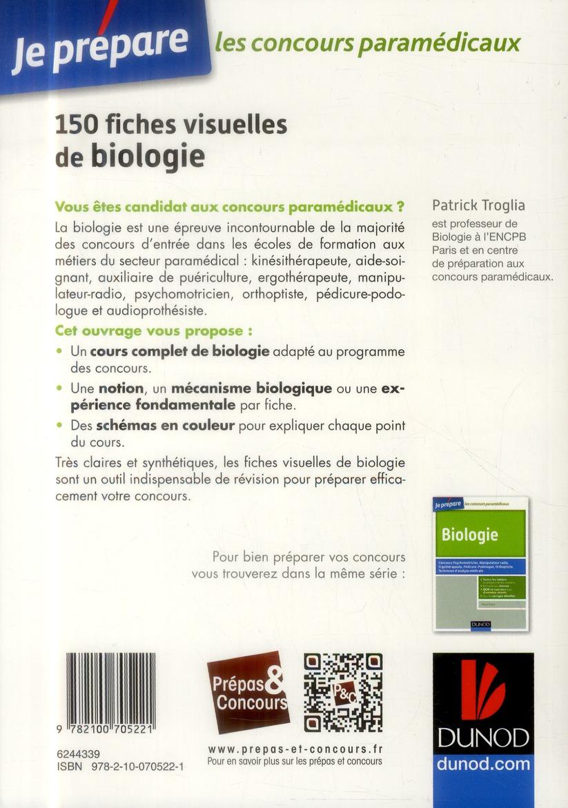 Je prépare ; 150 fiches visuelles de biologie