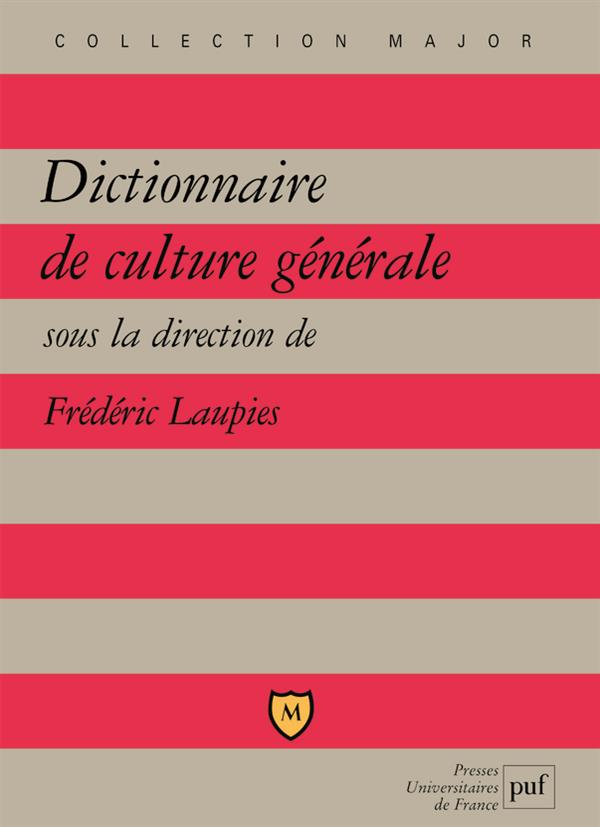 Dictionnaire De Culture Generale (2ed) (2e Edition)