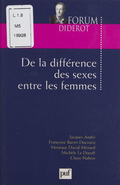 De la différence des sexes entre les femmes