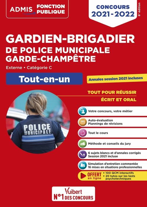 Concours gardien-brigadier de police municipale et garde-champêtre - catégorie C - tout-en-un (édition 2021/2022)