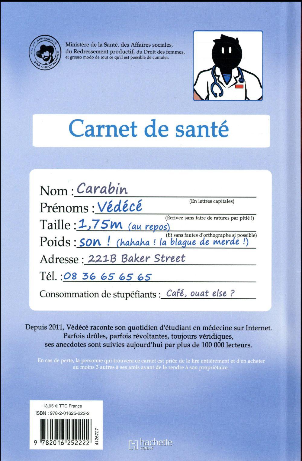 vie de carabin - dossiers médic@ux Hors-Série t.1 ; carnets de santé