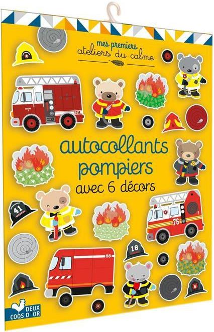 autocollants pompiers avec 6 décors