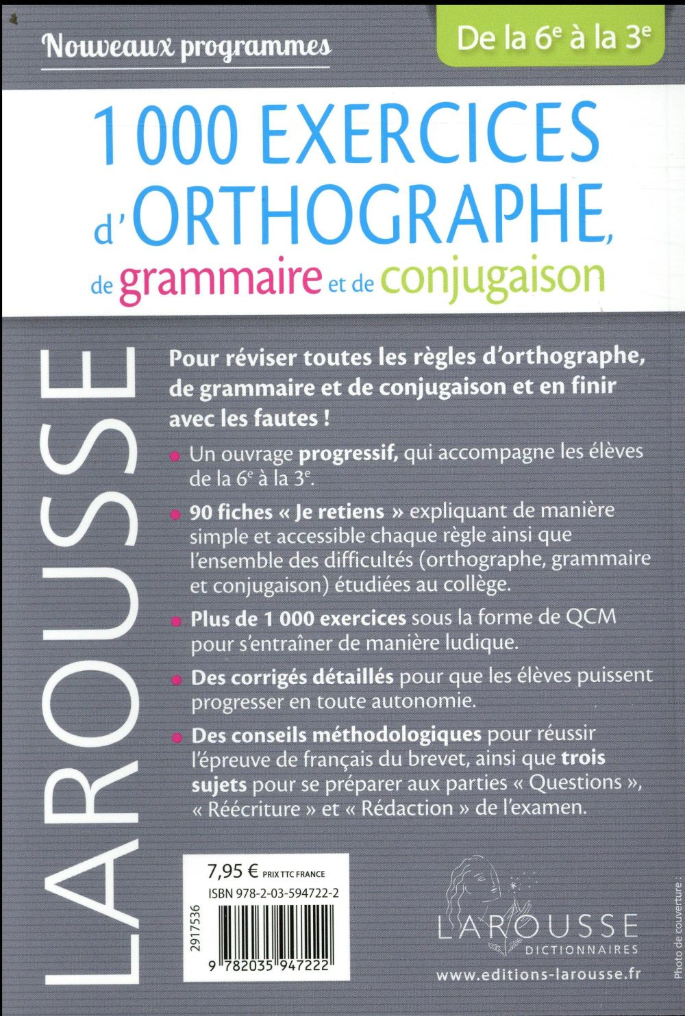 1000 exercices d'orthographe, spécial collège