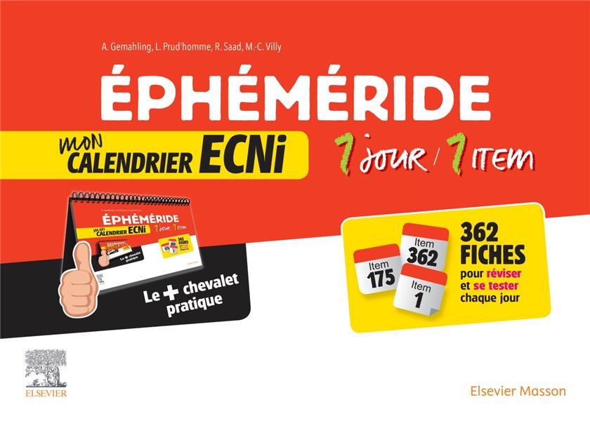éphéméride : mon calendrier ECNI 1 jour / 1 item
