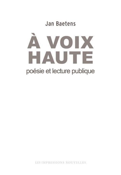 à voix haute, poésie et lecture publique
