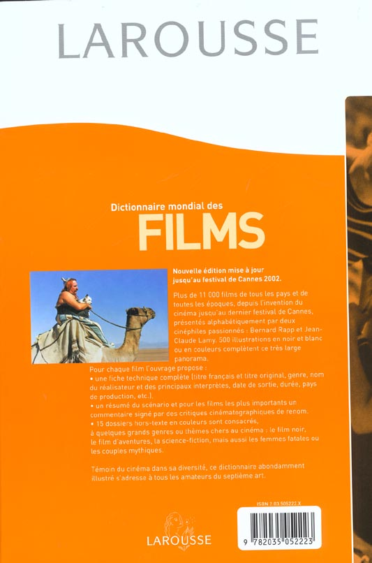 Dictionnaire mondial des films ; edition 2002