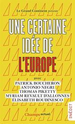 Couverture de Une certaine idee de l'europe