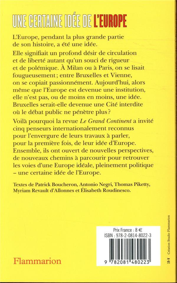 Une certaine idée de l'Europe