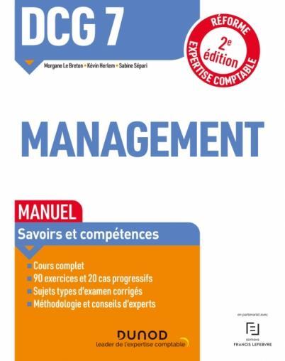 DCG 7 : management ; manuel (2e édition)