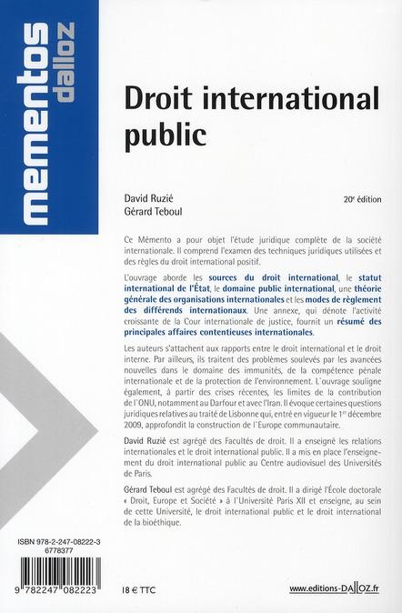 droit international public (20e édition)