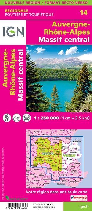 NR14 ; Auvergne-Rhône-Alpes, Massif Central