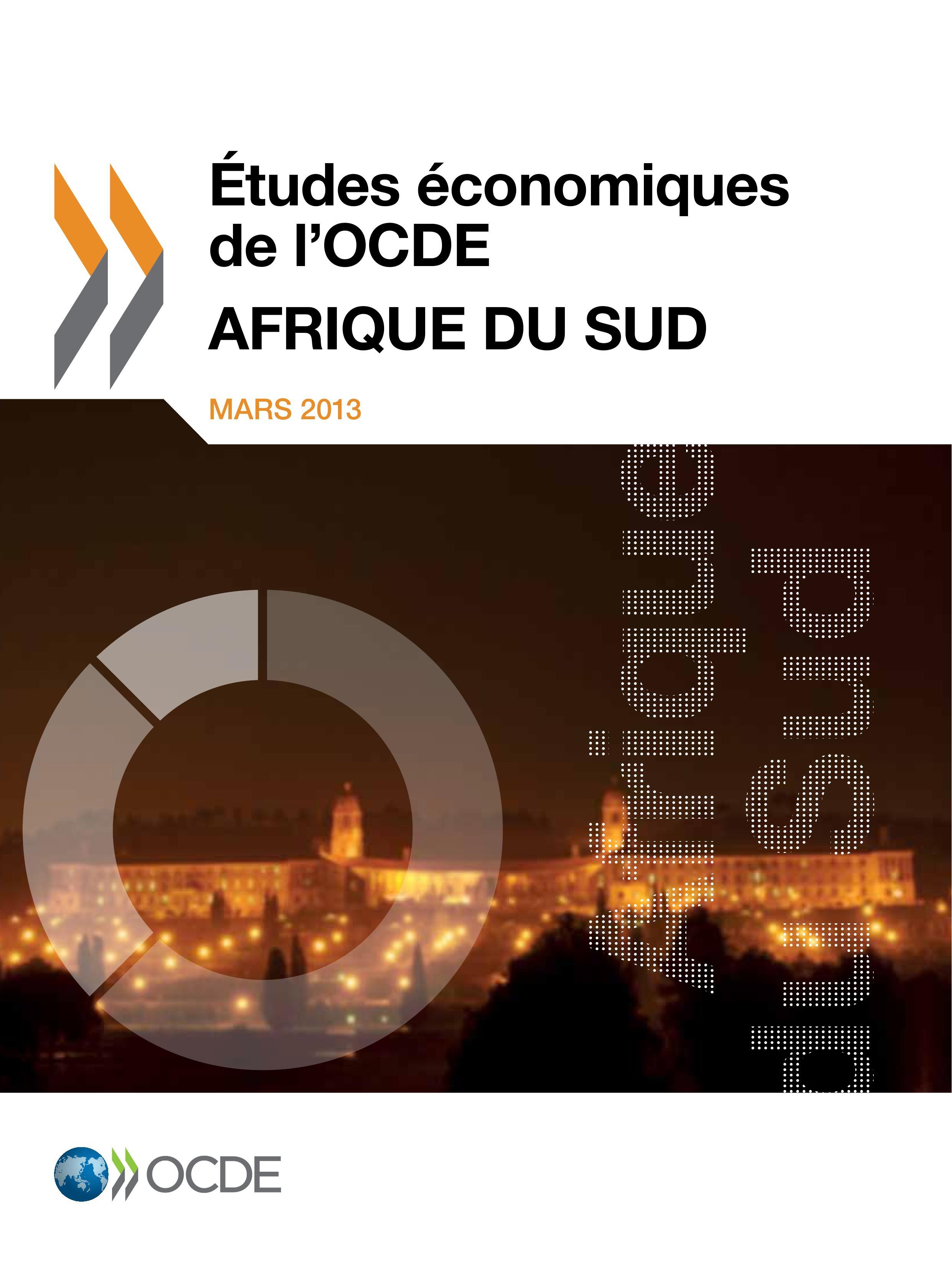 Afrique du Sud ; études économiques de l'OCDE, mars 2013
